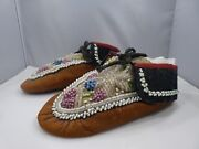 Antique American Indian Beaded Moccasins
