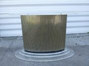 Mad Crazy 70's Scarface Lucite And Paneled Silver Metal Strip Dining Table Base P