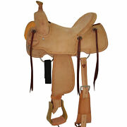 Circle Y Comal All Around Roughout Hard Seat Western Saddle - Roping Ranch 2727