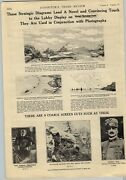 1918 Paper Ad 2 Pg Silent Film Movie Lobby Cards Italy's Flaming Front Posters