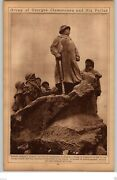 1922 Rotogravure Picture Photo Statue Clemenceau And Poilus Lincoln Memorial