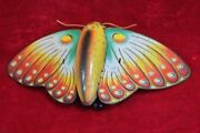 Tin Toy Rare Wind Up Butterfly Old Vintage Antique Home Decor Collectible Pi-10