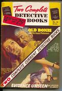 Two Complete Detective Books 35 11/1945-george Gross Gga Cover-violent Pulp ...