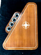 31 By 42 Teak Yacht/boat/rv Table High Gloss Finish W/ Maple Rose Inlay
