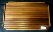 18 By 31 Yacht/boat/rv Burmeseteaktabl With Natural /oiled Finish And Fiddle