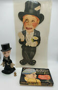 1938 Charlie Mccarthy Promotional Ventriloquist Cut-out,puppet,pin And Game Lot.