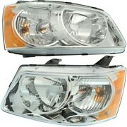 Headlight Lamp Left-and-right Lh And Rh Gm2502284c Gm2503284c 15890727 15890728