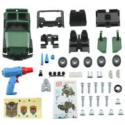 New Diy Assembled Military Vehicle Car Off-road Truck W/engine Sounds Led Lights
