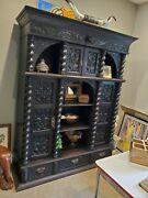 Antique Carved Louis Xlll French Wall Unit/ Hutch. Palestine Texas