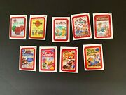 2013 Topps Wacky Packages Ans11 Complete Red Border Rude Food Set