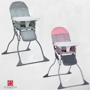 Baby High Chair Toddler Feeding Seat Adjustable Tray Portable Folding Safety