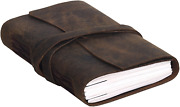 Handmade Leather Journal/writing Notebook Diary/bound Daily Notepad For Men And 7