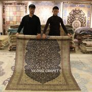 Yilong 5and039x8and039 Classic Silk Rugs Hand Knotted Home Carpet Handmade Footcloth 1031