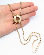Old Stock Melrose And Market Slider Chain Necklace In Gold Tone