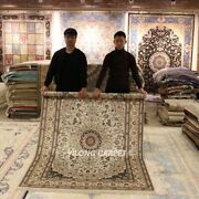 Yilong 5and039x8and039 Floral Handmade Silk Area Rugs Home Decor Hand Knotted Carpets 456b