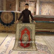 Yilong 3'x5' 300line Antique Classic Handmade Silk Carpet Hand Knotted Rug L128a