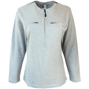 Womanand039s Port Fashions Long Sleeve Chemo 5 Zipper Port Access Shirt