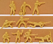 Marx Recast 60mm U.s. Infantry - 25 In 10 Poses - Plastic Toy Soldiers 1990s