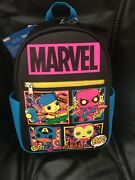 Funko Marvel Black Light Mini Backpack Target Exc. Sold Out Same Day Shipping