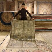 Yilong 4and039x6and039 300lines Handcraft Rug Four Seasons Hand Knotted Silk Carpets L985h