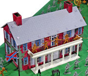 Marx Recast - Steel Litho Southern Mansion - 54mm No Figures Or Accessories