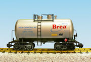Usa Trains G Scale Beer Can Tank Car R15212 Brea Chemicals - Silver