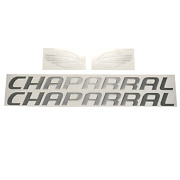 Chaparral Boats Domed Raised Metallic Silver Decal Set 32pair