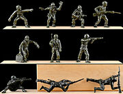 Marx Recast 60mm Wwii Giand039s - 25 In 10 Poses - Green - Plastic Soldiers 1990s