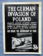 The German Invasion Of Poland Polish Ministry Information 1939 Black Book