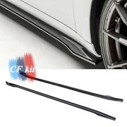 Carbon Fiber Side Skirt Extensions Underboard For 2019-2020 Tesla Model 3 Sedan