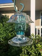 Hanging Mason Jar Bird Feeder Homemade With Recycled Glasswarestoneware 663