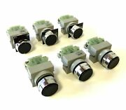 Lot Of 6 Idec Abw Pushbuttons With 1x Tw-c10 N/o Contact Button Color Black