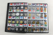 World Genuine Coin Collection Album From 120 Country China Asia Uk Europe Coins