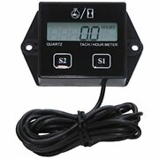 Tachometer For Small Engine,inductive Hour Meter 2 Stroke Andamp 4 Replaceable Atv