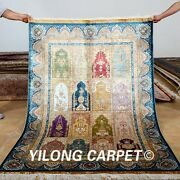 Yilong 4and039x6and039 Handmade Silk Rugs Classic Classic Pattern Four Season Carpets 0117