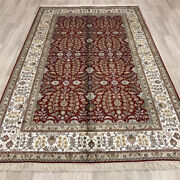 Yilong 5and039x8and039 Red Medium Handmade Silk Area Rugs Antique Hand Knotted Carpet 012b