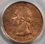 2005 Pcgs Ms63 Missing Clad Layer California Quarter State Mint Error Red Copper