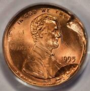 1995 Pcgs Ms64rd Most Unusual Rotated Double Struck Cent Mint Error Two Dates