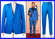 Brand New Versace Collection Blue Suit As Seen On Justin 56 - 46