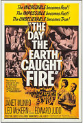 The Day The Earth Caught Fire Original 1962 One Sheet Movie Poster Janet Munro