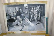 Earl Norem Painting Mens Magazine Illustration Naughty Spies