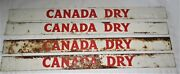 Four Canada Dry Ginger Ale Non Porcelain Metal Door Push Advertising Art Sign S