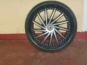 20 Inch Wheels Rims Used Black And Chrome Universal 5 Wholes