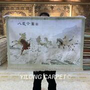 Yilong 2and039x3and039 400line Houses Tapestry Silk Carpet Home Decor Area Rug 017h