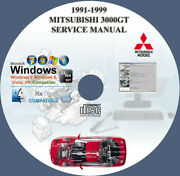 Mitsubishi 3000gt Spyder Stealth 1991 1992 1993 1994 Service Repair Manual On Cd