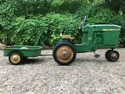 Dtc 6501 John Deere 20 Pedal Tractor And Wagon. New Tires Rest All Original.andnbsp