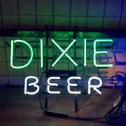 Dixie Beer 17x14 Neon Sign Lamp Light Real Glass Handmade With Dimmer