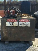 100 Gal Fuel Tank With 12v D.c. Electric Fill Rite, Pump And Nozzle -
