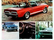 1968 Ford Shelby Mustang Gt 350 500 Fastback/tailights Print Car Ad Dealer 1967