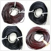 Real Round Leather Cord 100 Rope,leather String Bracelet Necklace Twine Making